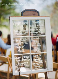 wedding cakes cupcakes pictures antique window menu chalkboard diy wedding 24131