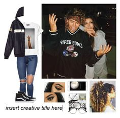 """""""Jc Caylen & Andrea Russett // Young and reckless🤘🏽"""" by barobo ❤ liked on Polyvore featuring Vans"""