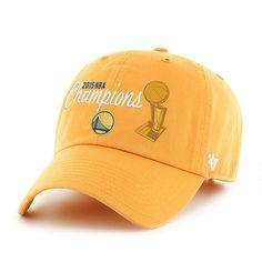 0ca41e69a4245c Golden State Warriors 47 Brand 2015 NBA Champions Gold Trophy Adjustable Hat  Cap