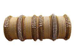 Beige Color Designer #Bangles Indian Bracelet Set  by Shoppingover