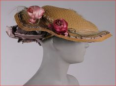Jeanne Lanvin, Straw Hat, French, Early 20th Century.