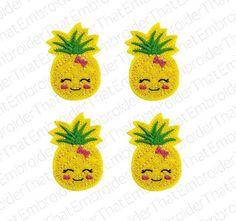 UNCUT Cute Pineapple felt applique embellishment feltie hair