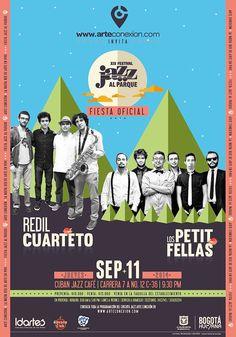 Afiche / Poster Fiesta oficial XIX Festival Jazz al Parque Concepto, diseño, retoque fotográfico y desarrollo. Trabajo realizado para el Instituto Distrital de las Artes IDARTES. Bogotá, 2014. #poster #typography #design #graphicdesign #poster #typography #design #graphicdesign #ilustration
