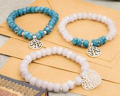 Colourful Jade beaded mala bracelet, with lots of kinds of charms for yoga gift, meditation, beauty and presents