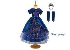 nachtblauwe prinsessenjurk met accessoires
