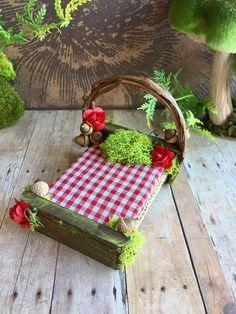 Fairy dollhouse bed woodland miniature bed handmade fairy