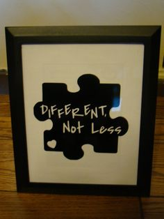 Framed 8x10 vinyl lettering  autism quote     by RomansHope, $20.00