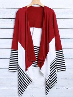 Asymmetric Cardigan - Red