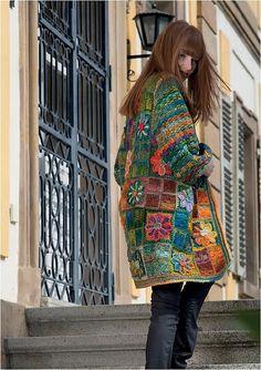 kit crochet manteau granny