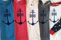 Ready To Ship Super Soft Eco-Slouchy Preppy Anchor Pullover Available in Gray on Etsy, $30.00