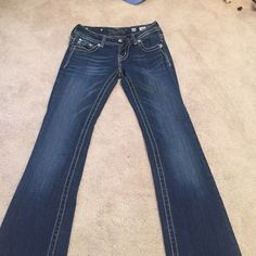 Miss Me boot cut jeans size 26 basically brand new jeans, worn maybe a handful of tjmes, just not interested in anymore. price negotiable Miss Me Jeans Boot Cut