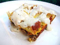 Sausage Gravy Breakfast Bake | Plain Chicken