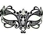Purple and Black Flower Designed Fabric Mask