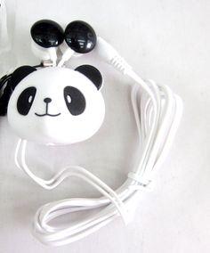 Panda Earphone Headphone - Anime Wholesale From China Panda Kawaii, Cute Panda, Kawaii Cute, Panda Lindo, Panda Bebe, Panda's Dream, Panda Gifts, Cool Things To Buy, Stuff To Buy
