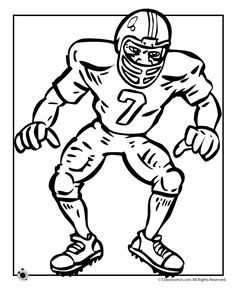6 football coloring pages great for celebrating the Super Bowl, Thanksgiving Day and for PE class activities.