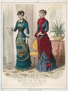 Fashion Plate - Revue de la mode, Gazette de la Famille, 1880
