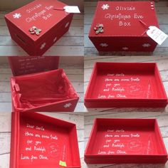 Here are some great ideas for a Christmas Eve box. Look at our impressive wooden boxes range for more inspiration at www.craftmill.co.uk