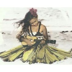 little hula girl...