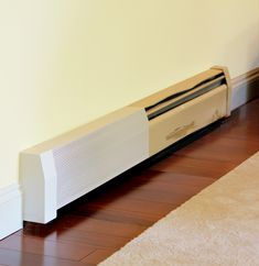 Our baseboard heat covers covering up outdated, rusted covers. Baseboard Radiator, Baseboard Heater Covers, Electric Baseboard Heaters, Baseboard Heating, Floor Heater, Diy Heater, Painting Baseboards, Home Upgrades, Home Repairs