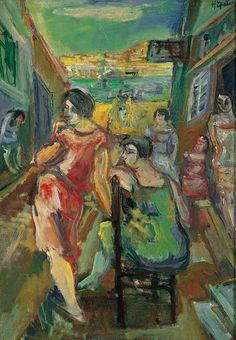 Henryk Epstein | <i>Marseille Streetwalkers, around 1930</i> | oil, canvas | 64 x 45.5 cm