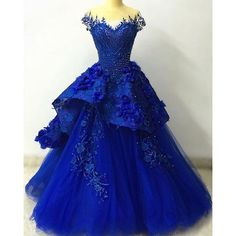 Viamns Luxury Sweetheart Ball Gown Royal Blue Quinceanera Dresses with Handmade Flower new year 2017 sweet 16 dresses LD327-in Quinceanera Dresses from Weddings & Events on Aliexpress.com | Alibaba Group