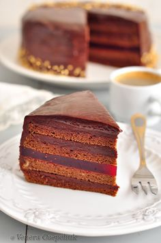 Торт Малиновый трюфель (для Ксюши strelec148) рецепт с фото