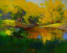 Abstract Landscape Painting Water Oil Painting by PysarArt
