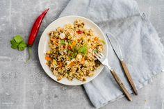 fried rice paistettu riisi Vegetarian Food, Fried Rice, Fries, Ethnic Recipes, Vegetarian Cooking, Vegan Food, Vegetarian Meals, Stir Fry Rice, Vegetarian Wedding Food