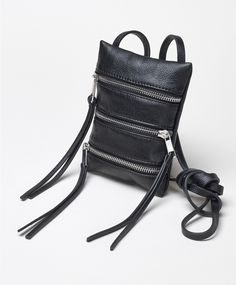 Small faux leather bag with zip compartments | Gina Tricot Accessories | www.ginatricot.com | #ginatricot