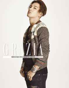 BIGBANG's Taeyang is featured in the latest edition of Grazia magazine.