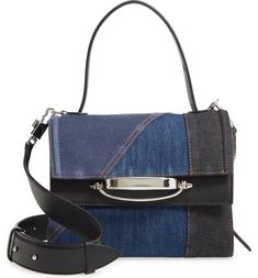 Alexander McQueen Story Patchwork Denim Crossbody Bag | Nordstrom