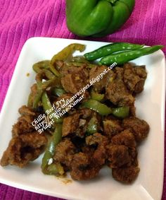 ANGLO-INDIAN RECIPES: CHILLIE BEEF FRY