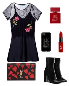 """""""Untitled #130"""" by micaelagrau on Polyvore featuring Yves Saint Laurent, NYX, Bella Freud and Casetify"""