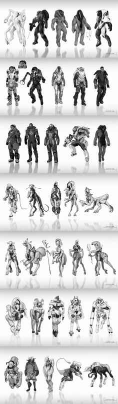 Sister Ark project character concepts by JSA-Arts