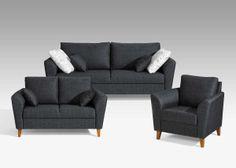 Kotimainen, kompaktin kokoinen LILLI-sohva. Laulumaa Huonekalut