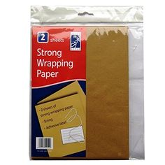 Strong Brown Wrapping Paper - 2 Sheets - 29cm x 29cm (11.4' x 11.4') - With String, Adhesive Label >>> For more information, visit image link.