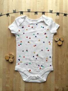 Confetti Hand Painted Baby Romper/Bodysuit via these little roots