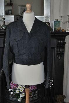 Vintage 1953 Royal Air Force Jacket/Blouse No2 Home Dress Size13 CH:37-38  W:34