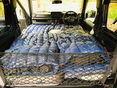 Sleeping in the Suzuki Jimny – Geordie Jimny Camper Top Tents, Roof Top Tent, Mattress Sets, Best Mattress, Roof Storage, Storage Spaces, New Suzuki Jimny, Roof Basket, Camping Mattress