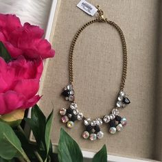 "Stunning gemstone necklace NWT Stunning J.Crew factory necklace. Authentic & comes with pouch. (Don't be fooled but knockoffs sold here on PM) 18"" with 3"" extender. 🚫 No trades. All sales final. Wedding season. J. Crew Jewelry Necklaces"