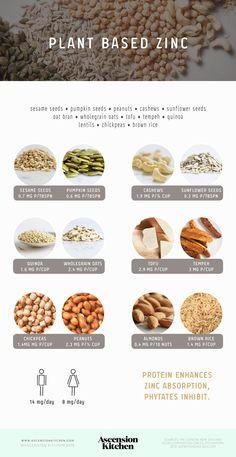 Plant based sources of zinc                                                                                                                                                                                 More