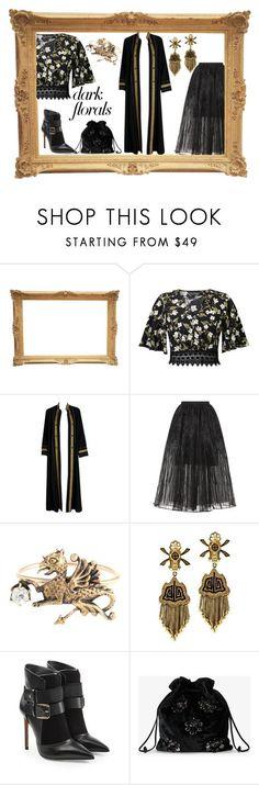"""Dark Florals:  Modern Victorian"" by feralkind ❤ liked on Polyvore featuring Miss Selfridge, Thea Porter, Elie Saab, Balmain, Miu Miu and modern"