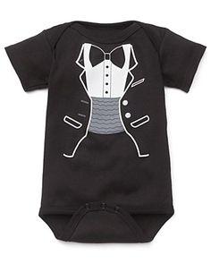 "Sara Kety ""Black Tuxedo"" Romper - Sizes 0-18 months  PRICE: $20.00"