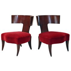 Pair of Slipper Chairs by Angelo Donghia | From a unique collection of antique and modern slipper chairs at https://www.1stdibs.com/furniture/seating/slipper-chairs/