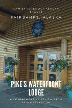 Pike's Waterfront Lodge in Fairbanks, Alaska is a great family friendly resort style hotel. Wonderful Places, Great Places, Places To Go, Family Friendly Resorts, Fairbanks Alaska, Lodge Style, Unit Studies, Alaska Travel, Field Trips