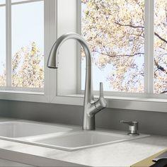 american standard kerris stainless steel 1 handle includes pull down lowes 159 - Corian Arbeitsplatten Lowes