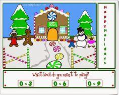 """""""Happy holidays"""" es un juego en el que, para componer un bonito paisaje navideño, es necesario acertar con la tabla de multiplicar. Con tres niveles de conocimiento de las tablas de multiplicar."""