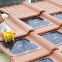 Generate cheap green electricity from sunlight with solar roof tiles - Ha . Generate cheap, green electricity from sunlight with solar roof tiles - house decorations. Solar Energy System, Solar Power, Home Design, Alternative Energie, Luz Solar, What Is Fashion Designing, Solar Roof Tiles, Garden Buildings, Solar Panels
