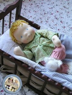 Madeline - cloth baby doll by Lalinda.pl