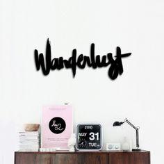 Wanderlust Wooden Sign (42 x 17cm)  #decor #style #home #room #Hu2 Design #desado.com